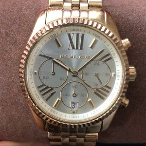 Michael Kors Lexington Gold Watch